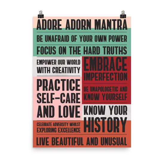 Adore Adorn 18×24 Living In Color - What We Believe Poster