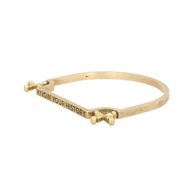 Adore Adorn Bracelet Know Your History Bracelet - Brass