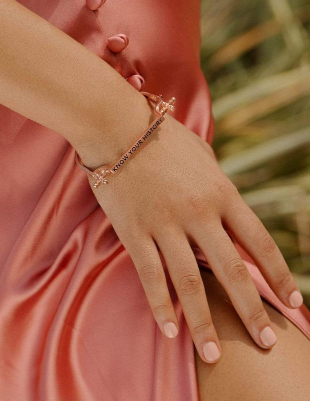 Adore Adorn Bracelet Know Your History Bracelet in Rose Gold