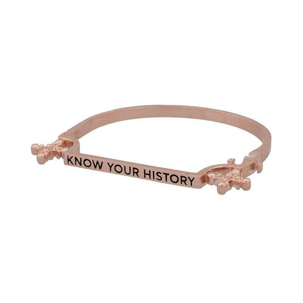 Adore Adorn Bracelet Know Your History Bracelet - Rose Gold