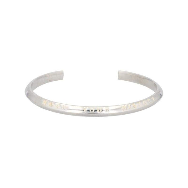 Adore Adorn Bracelet Know Your History Cuff - Silver + Onyx