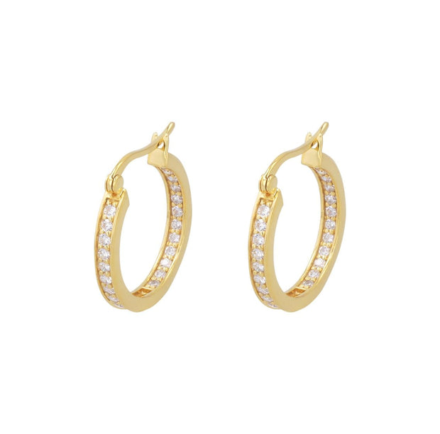 Adore Adorn Earrings 14mm Lucky Hoop in Gold