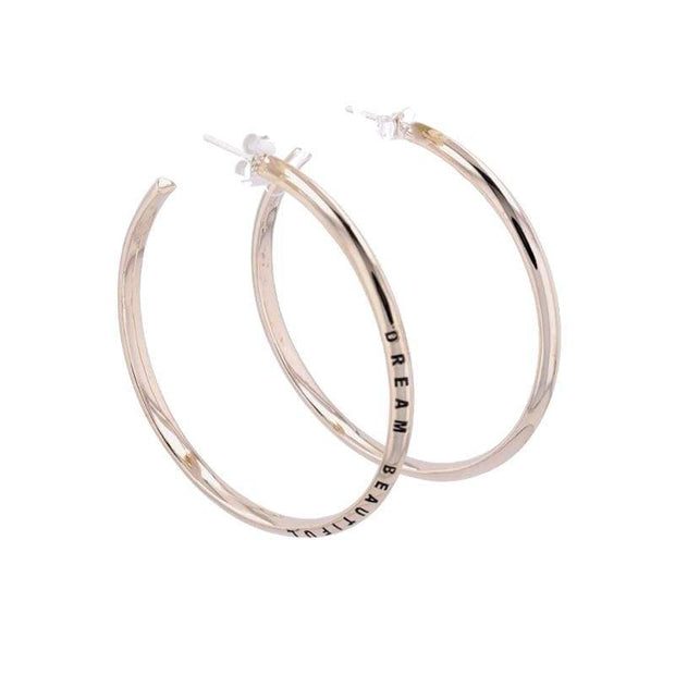 "Adore Adorn Earrings 2.25"" Dream Beautiful Hoop Earrings + Brass"
