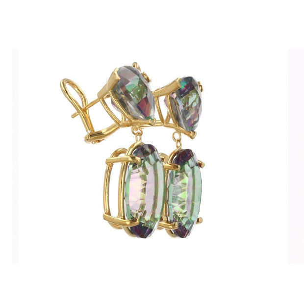 Adore Adorn Earrings 2-Drop Mystical Gemstone Earring