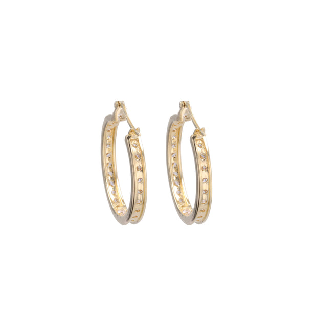 Adore Adorn Earrings 20mm Lucky Gold Hoop (Nickel Size)