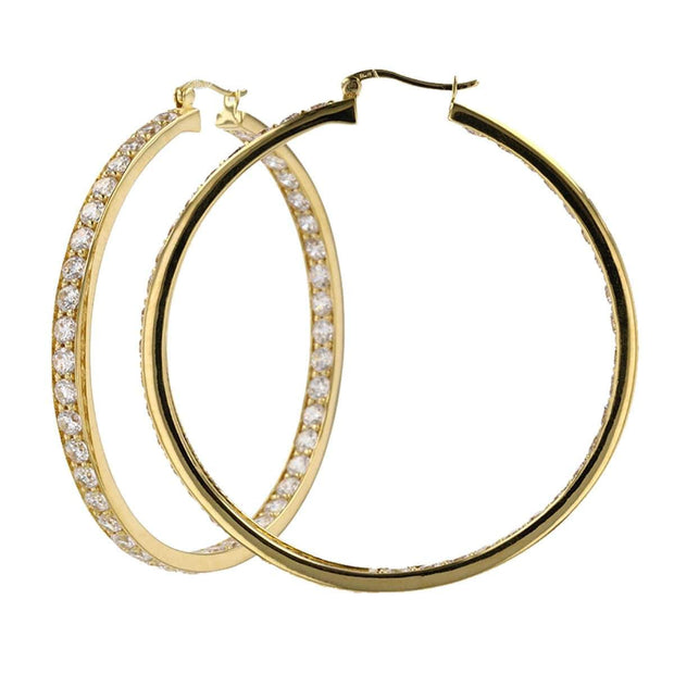 Adore Adorn Earrings 50mm Lucky Gold Hoop