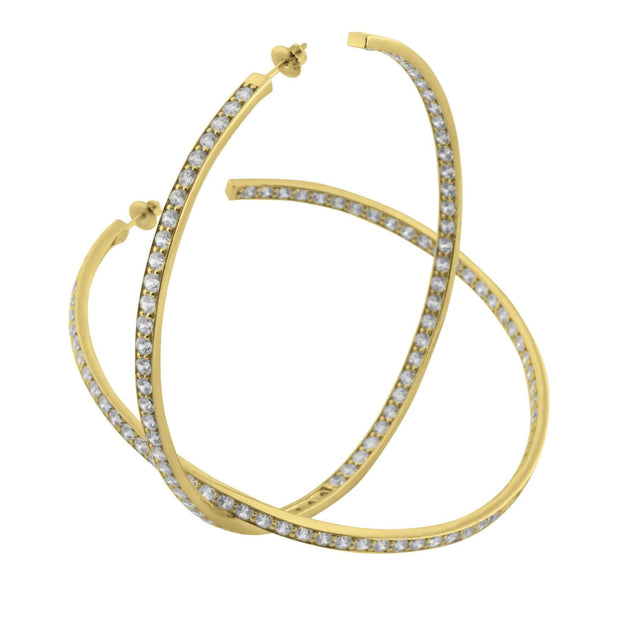Adore Adorn Earrings 80mm Lucky Hoops in 14K Gold Plated