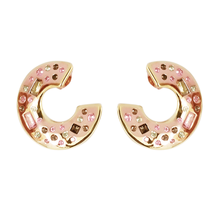 Adore Adorn Earrings Fair Lady Small Curved Hoop Earrings