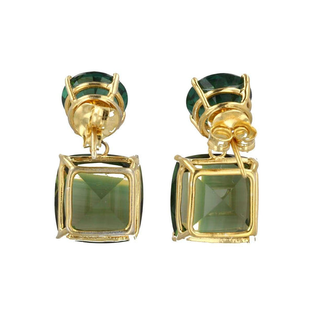 Adore Adorn Earrings Green Quartz Gemstone Earring