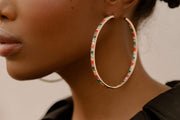 Adore Adorn Earrings Hoops - 80mm - Gold, Silver, Rose Gold