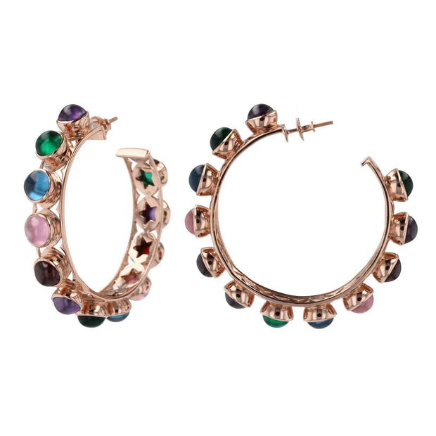 Adore Adorn Earrings Shari Hoop Earrings – Rose Gold