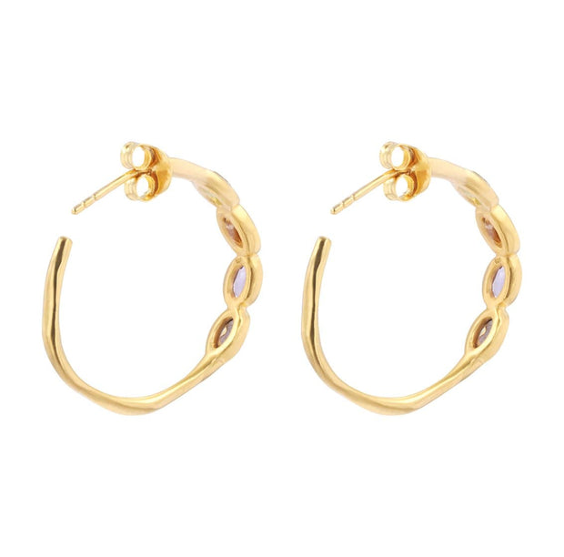 Adore Adorn Earrings Sundazed Hoop Earrings in 14K Gold