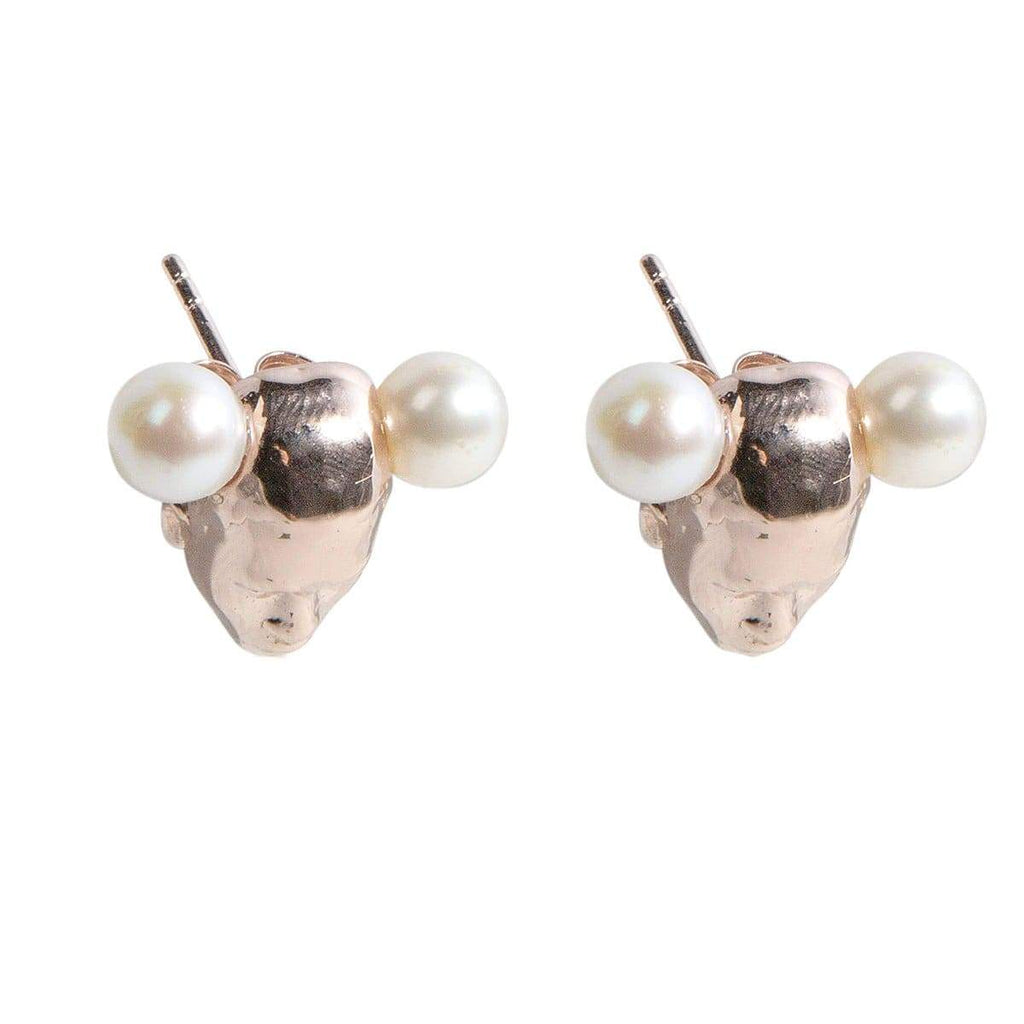 Adore Adorn Earrings TWINS Earrings - Rose Gold / Fresh Water Pearls
