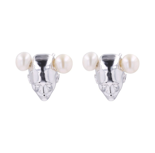 Adore Adorn Earrings Twins Earrings - White Rhodium / Fresh Water Pearls