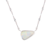 Adore Adorn Necklace Earth's 5 Layer Opal Necklace - Silver