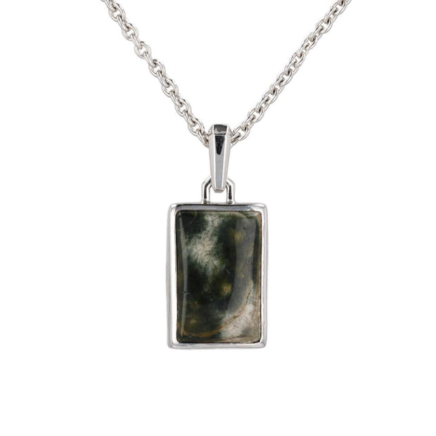 Adore Adorn Necklace Earth's Guide Jasper + Rhodium Pendant Chain