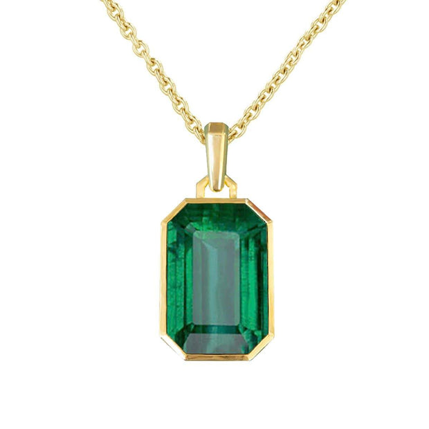 Adore Adorn Necklace Green Quartz Pendant - Gold
