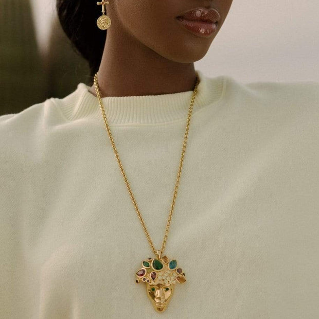Adore Adorn Necklace King of Kings Necklace in Gold