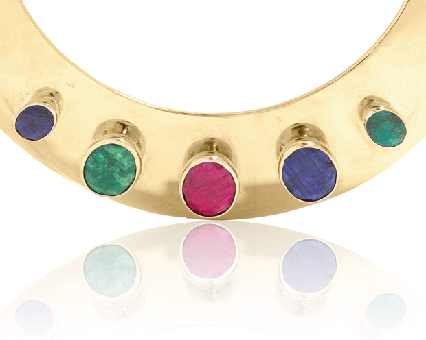 Adore Adorn Necklace Myrtle Collar (Emerald/Ruby/Sapphire)