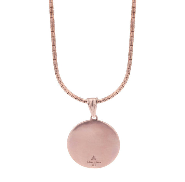 Adore Adorn Necklace Rose Gold Reava Coin Necklace in Rose Gold