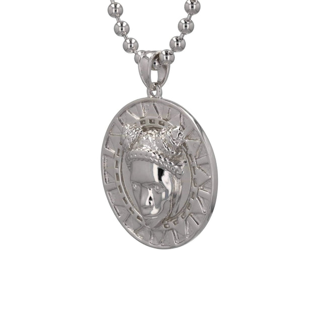 Adore Adorn Necklace White Rhodium Reava Pendant - Rhodium