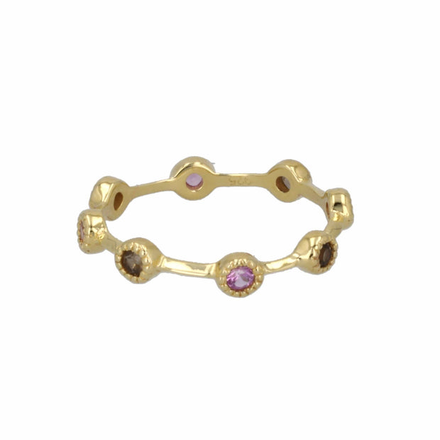360 Individual Ring with Pink Sapphire in 14K Gold