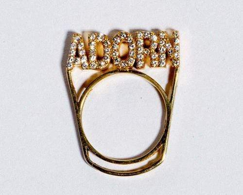 "Adore Adorn Ring 6.5 Branded ""Adorn"" Ring (14K Gold/Apatite)"