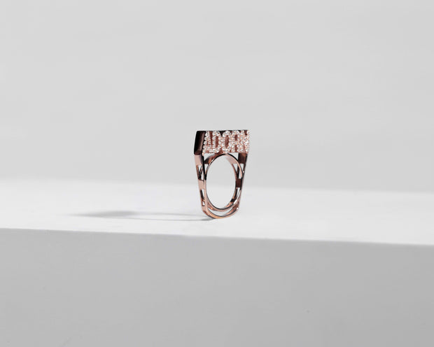 Adore Adorn Ring 6 Adorn Stackable Ring - Rose Gold