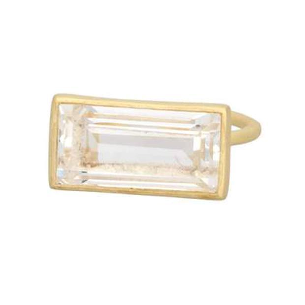 Adore Adorn Ring Gloria Ring - Clear Quartz / Matte Gold
