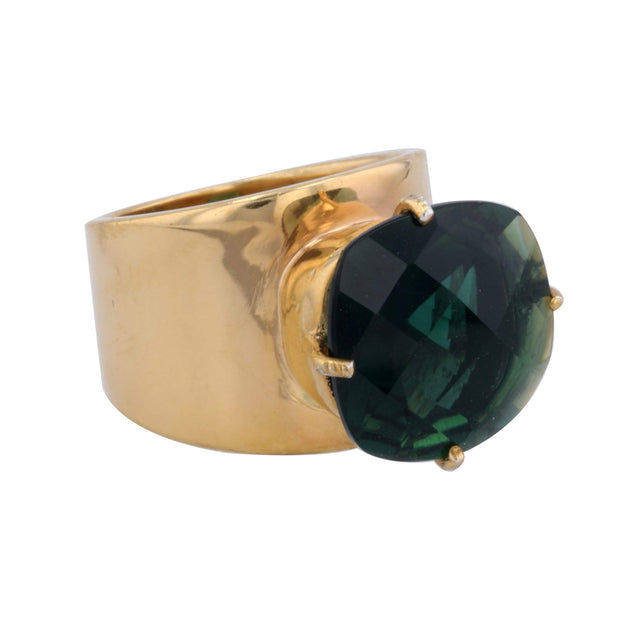 Adore Adorn Ring 7 Lilly Ring - Green Quartz