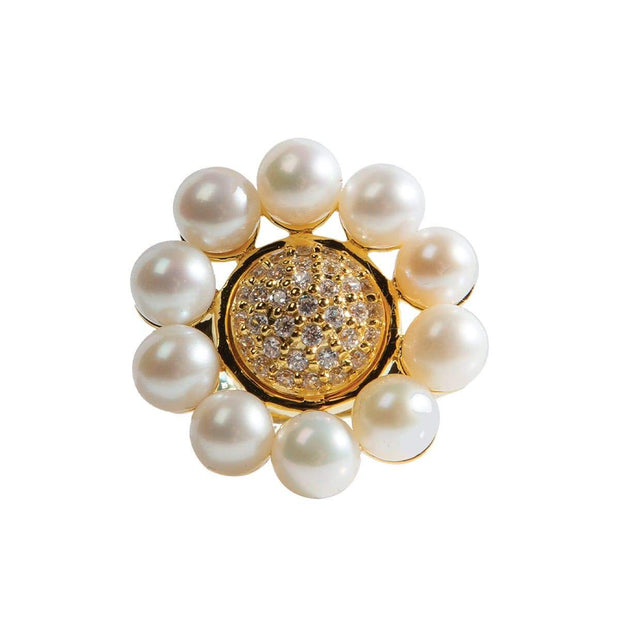 Adore Adorn Ring 7 Pearl Floral Ring - 14K Gold / Fresh Water Pearls