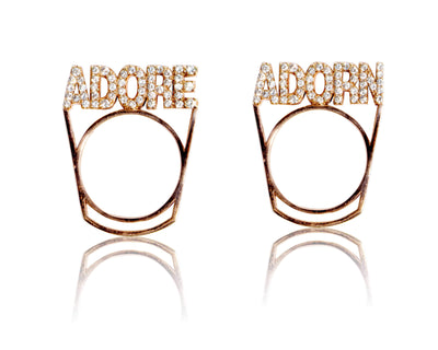 Adore Adorn Ring Adore Adorn Stackable Ring Set - Rose Gold