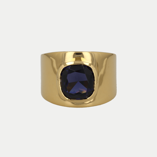 Adore Adorn Ring Blue Sapphire / Gold Vermeil / 925 Silver Lilly Ring (Personalized)