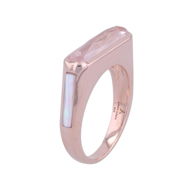 Adore Adorn Ring Brilliance Side Band Gem Ring