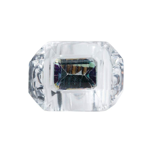Adore Adorn Ring Chunky Mystical Crystal Cut Ring