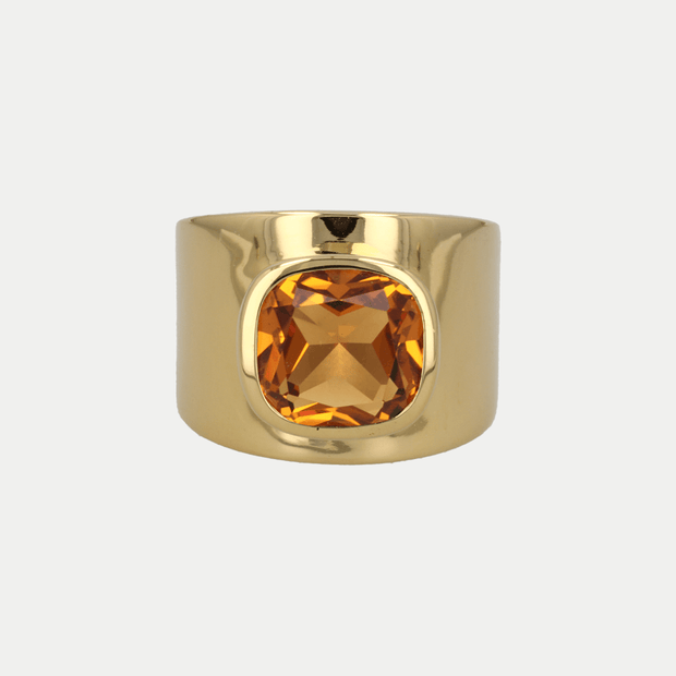 Adore Adorn Ring Citrine / Polished Gold / 925 Silver Lilly Ring (Personalized)