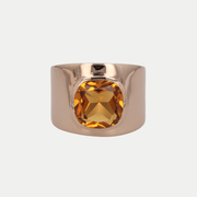 Adore Adorn Ring Citrine / Rose Gold / 925 Silver Lilly Ring (Personalized)