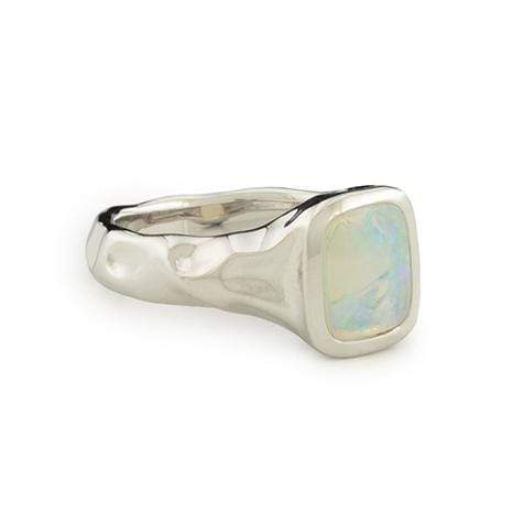Adore Adorn Ring Earth's Wave Handmade Opal Ring - silver