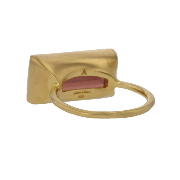 Adore Adorn Ring Gloria Ring - Brown Garnet / Matte Gold