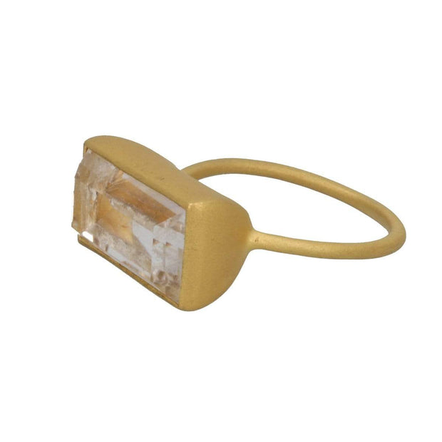 Adore Adorn Ring Gloria Ring - Matte Gold / Quartz