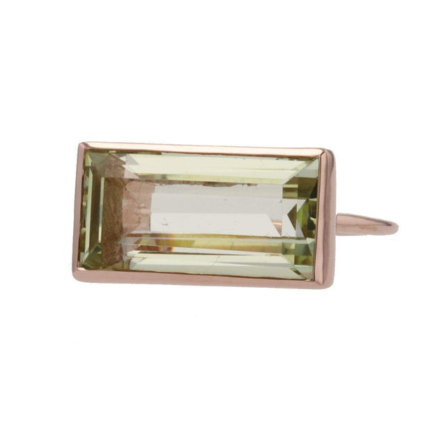 Gloria Ring with Peridot in Rose Gold