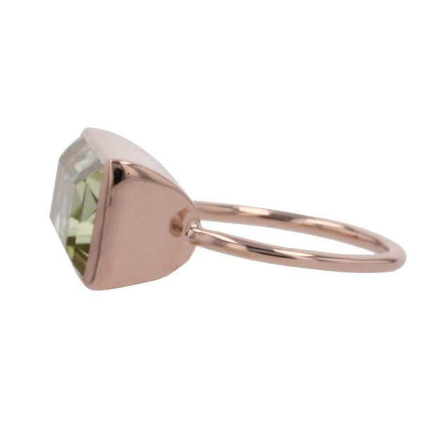 Adore Adorn Ring Gloria Ring - Peridot / Rose Gold