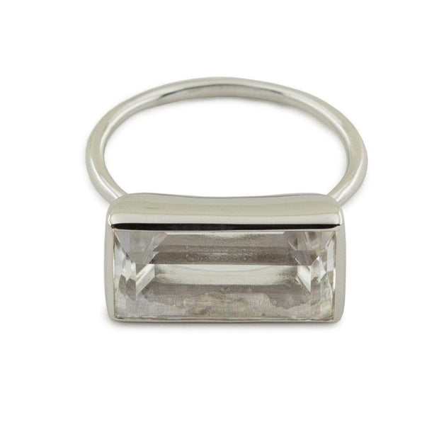 Adore Adorn Ring Gloria Ring - Clear Quartz / Rhodium