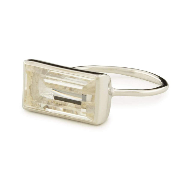 Adore Adorn Ring Gloria Ring - Rhodium / Clear Quartz