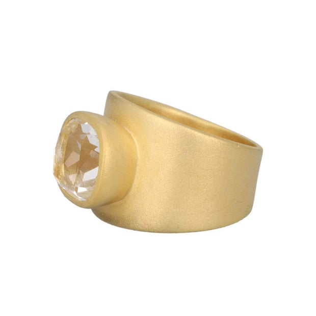 Adore Adorn Ring Lilly Ring - Clear Quartz / Matte Gold