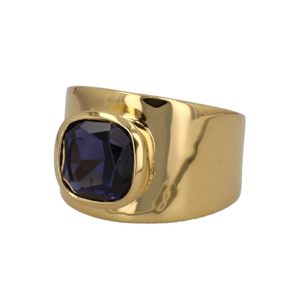 Adore Adorn Ring Lilly Ring - Gold / Blue Sapphire