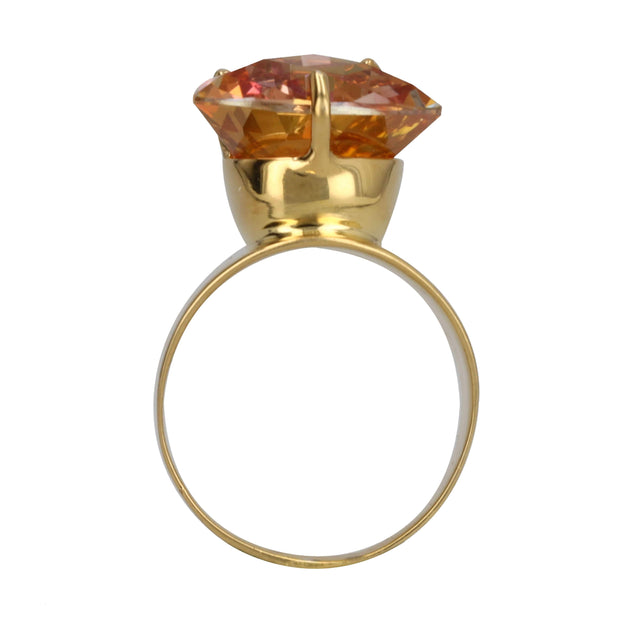 Adore Adorn Ring Lilly Ring - Gold / Pink Mystic Topaz