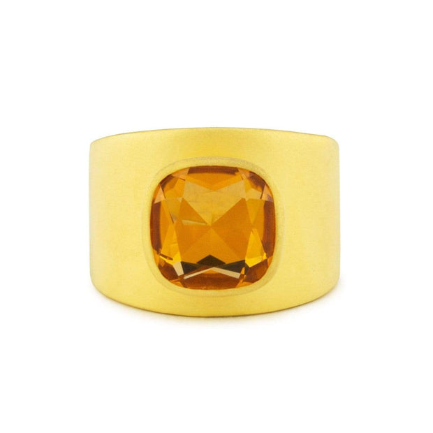 Adore Adorn Lilly Ring – Matte Gold / Citrine
