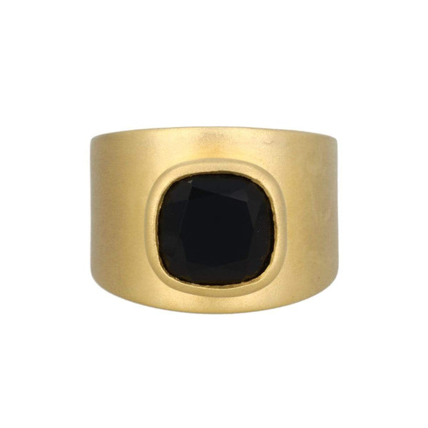 Adore Adorn Ring Lilly Ring - Matte Gold / Onyx