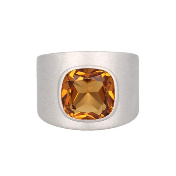 Adore Adorn Ring Lilly Ring - Matte Silver / Citrine